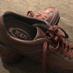 Tods leather Sneeker Made In Italy New